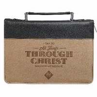 Bible Cover-Classic/All Things-Medium-Tan