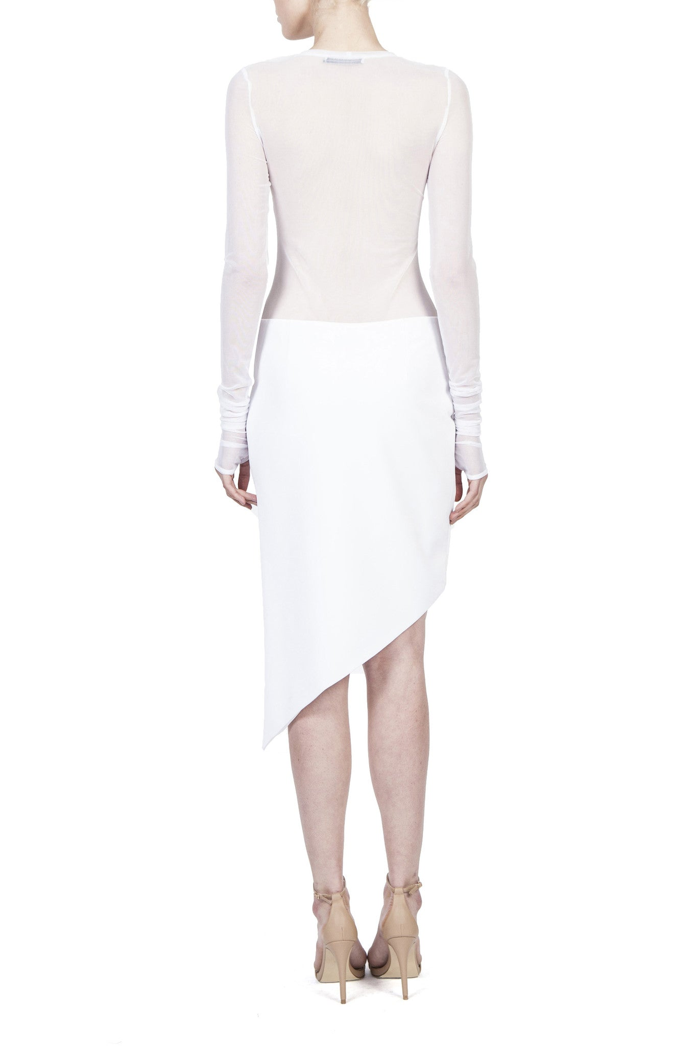HELDER DIEGO,ASYMMETRICAL MINI SKIRT,Bottom - HELDER DIEGO
