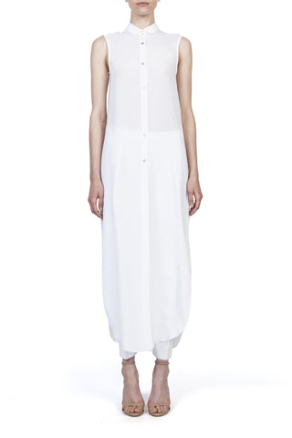 HELDER DIEGO,SLEEVELESS MAXI LENGTH SHIRT,TOP - HELDER DIEGO