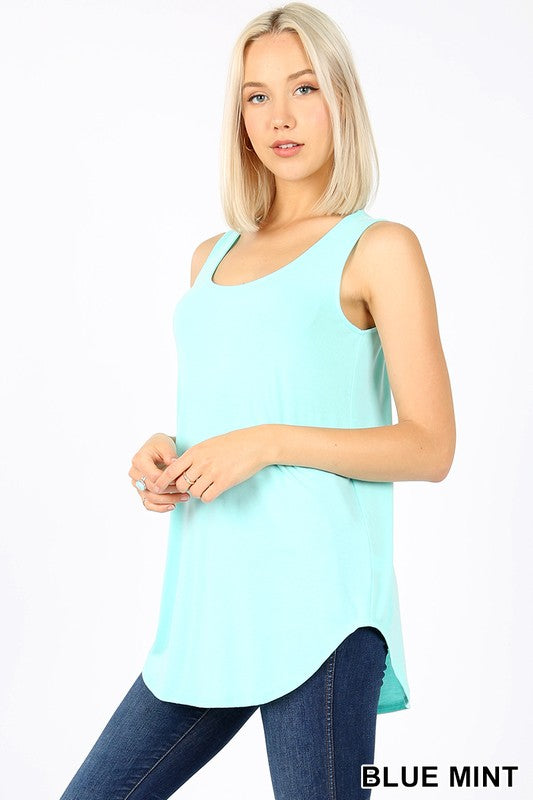Sleeveless Round Neck and Hem Top 00141