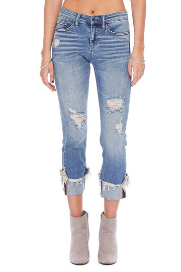 Judy Blue Cuffed Destroy Relaxed Fit 00144