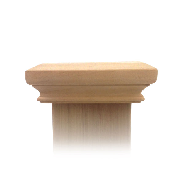 West Indies Wood Post Cap - 4x4, 5x5, 6x6, 4x6