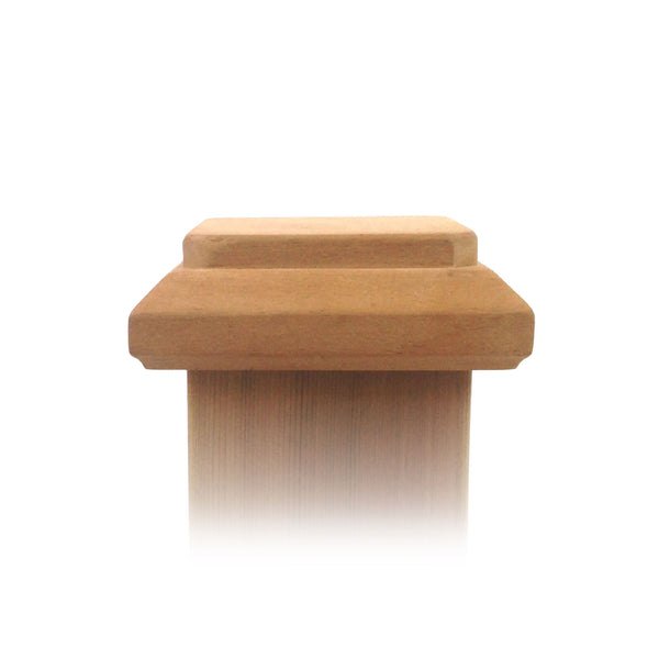 Front view of 4x4 Traditional Original Wood Fence Post Cap