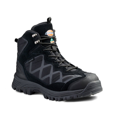 "Dickies Frontier Hike Men's 6"" Steel Toe Waterproof Shoe - Black"
