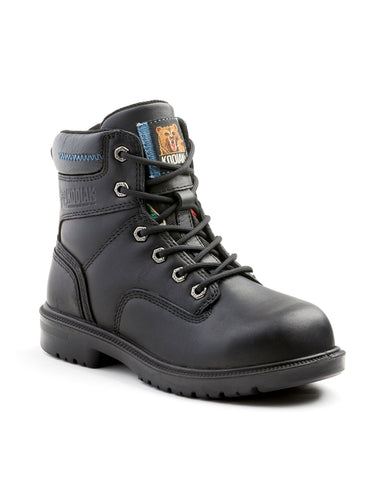 "Black Kodiak Blue Women's 6"" Aluminum Toe Work Boot"