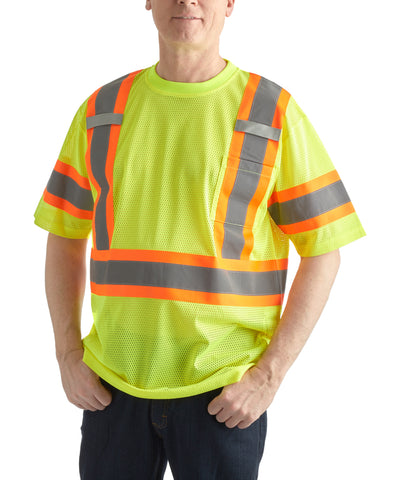 Terra High Vis Mesh Short Sleeved Shirt - Yellow