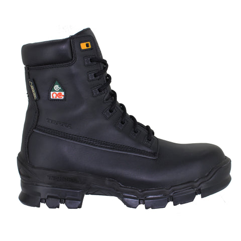 "Terra Turner 8"" Black Leather Composite Toe Safety Boot"