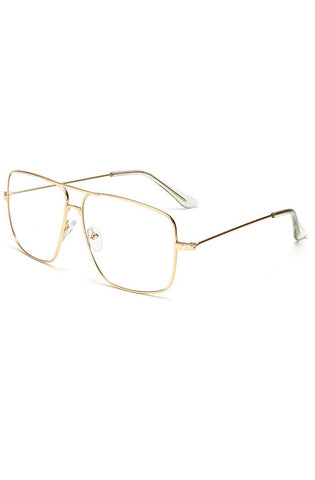 Piloto Clear Glasses (Gold)
