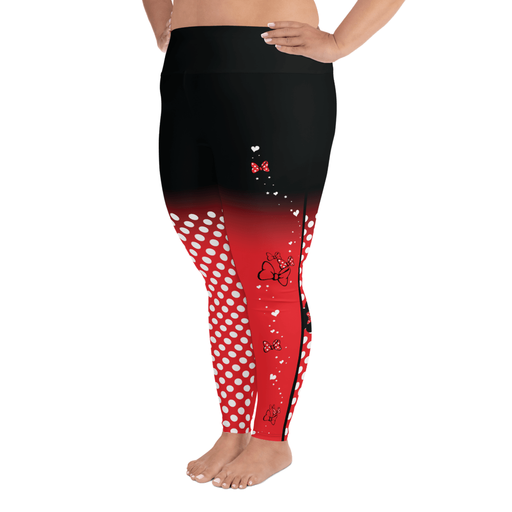Leggings - Dots & Bows | Curvy Leggings  | Made In The USA