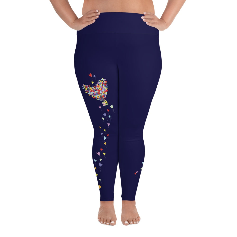 Leggings - Love Lifts Us Up | Curvy Leggings  | Made In The USA