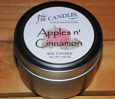 Apples N Cinnamon ~ Small Tin Soy Candle - 16 Candles by J.P. Lawrence