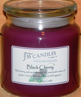 Black Cherry ~ 16 Oz Soy Candle - Shop16Candles