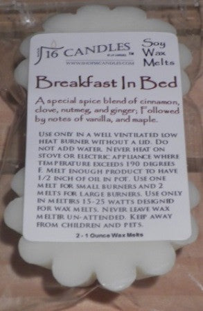 Breakfast In Bed ~ Scented Wax Melts - 16 Candles by J.P. Lawrence