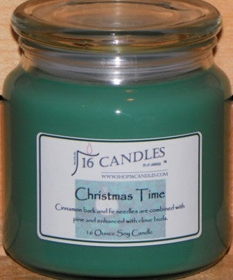 Christmas Time ~ 16 Oz Soy Candle