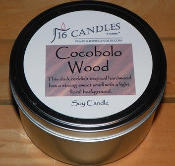 Cocobolo Wood ~ Large 2 Wick Tin