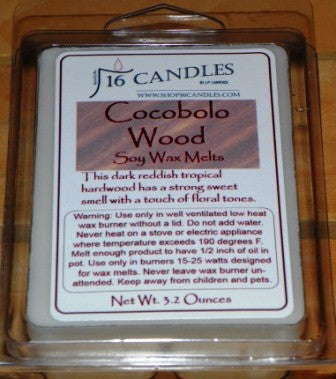 Cocobolo Wood ~ Soy Wax Melts - 16 Candles by J.P. Lawrence