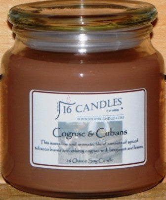 Cognac & Cubans ~ 16 Oz Soy Candle - Shop16Candles