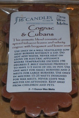 Cognac & Cubans ~ Scented Wax Melts - 16 Candles by J.P. Lawrence