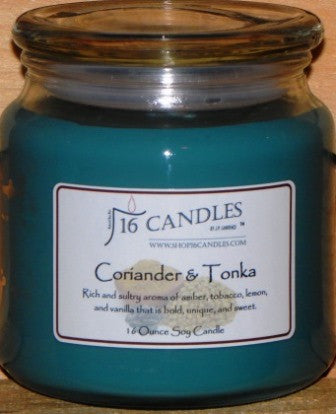 Coriander & Tonka ~ 16 Oz Soy Candle - Shop16Candles