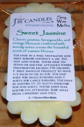 Sweet Jasmine ~ Scented Wax Melts - 16 Candles by J.P. Lawrence