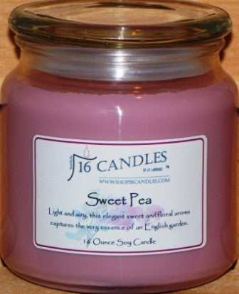 Sweet Pea ~ 16 Oz Soy Candle - Shop16Candles