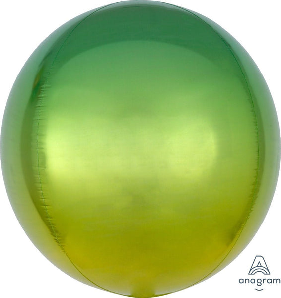 Yellow & Green Ombre Orb Balloon