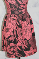 Black & Pink Floral Sheath Dress (S)