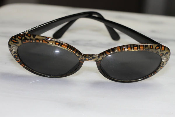 Nine West Leopard Cat Eye Sunglasses