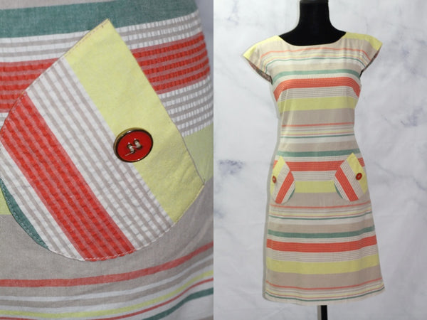 R & K Originals Multi Color Shift Dress (6)