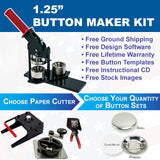 1.25 inch button maker kit