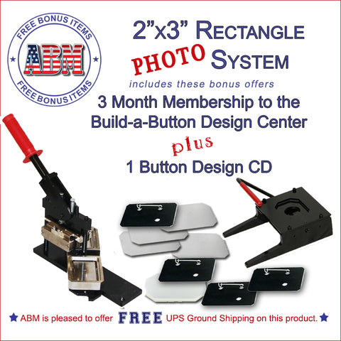 2x3 inch rectangle photo button maker kit