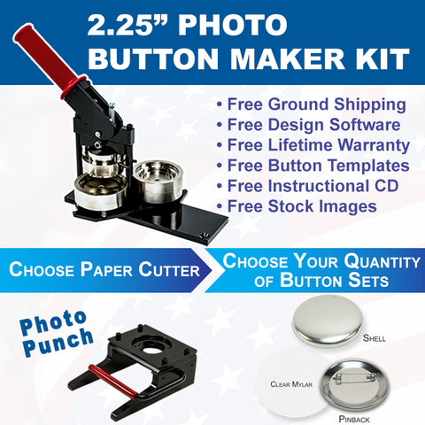 two and a quarter inch photo button maker kit
