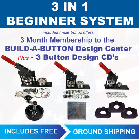 3-in-1 popular button machine sizes in one button maker kit