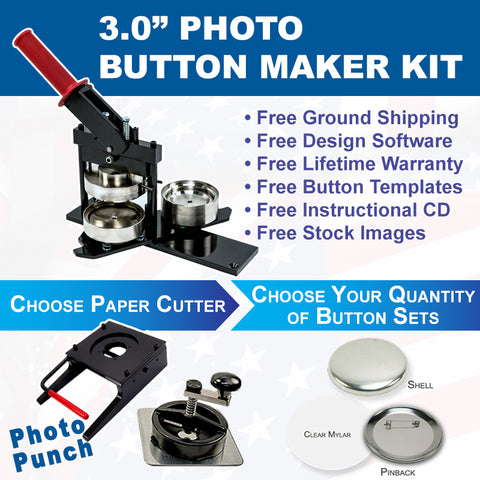 3 inch photo button maker kit
