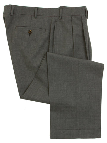 Ralph Lauren Mens Double Pleated Medium Gray Wool Dress Pants