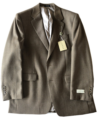 Ralph Lauren Mens Brown Mix Wool Sport Coat Jacket Blazer