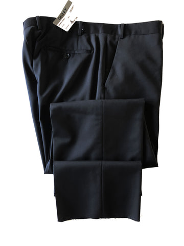 New DKNY Men's Flat Front Black Wool Dress Pants - Size 37