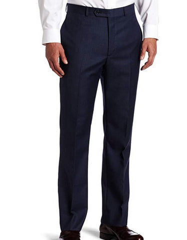 Tommy Hilfiger Mens Trim Fit Sharkskin Modern Blue Dress Pants 34x34