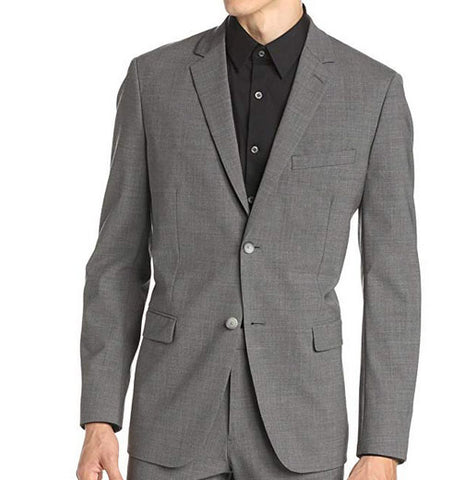 Theory Mens Wellar HC New Tailor Gray Solid Wool Suit Jacket 40R