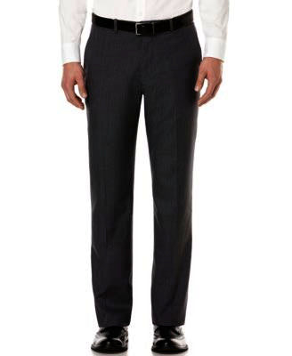 Mens Perry Ellis Black Solid Modern Fit Polyester Dress Pants 30X30