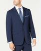 Mens Perry Ellis Bright Blue Solid Slim Fit 2 Button Flat Front Suit 38R
