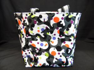 QT020 Quilted Tote Ghosts - Trinkets & Things Handmade with Aloha