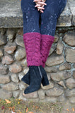 Knit Autumn Cable Legwarmers Pattern