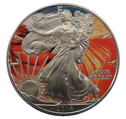 2014 1 Ounce American Eagle Grand Canyon Edition Silver Coin - Art in Coins