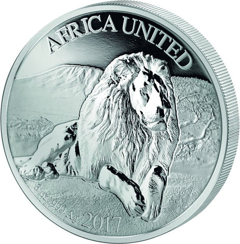 2017 5 Nation 3 Ounce Africa United Lion Silver Proof Coin - Art in Coins