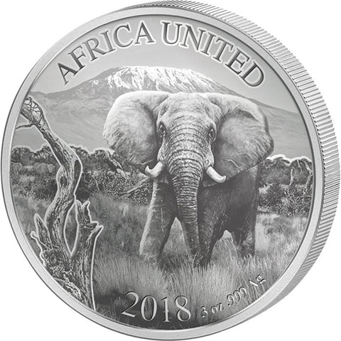 2018 6 Nation 3 Ounce Africa United Elephant Silver Proof Coin Set