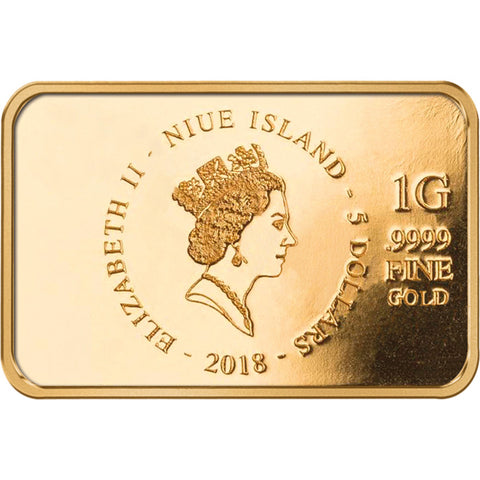 2018 Niue 1 Gram Brilliant Baby Bar Leopard