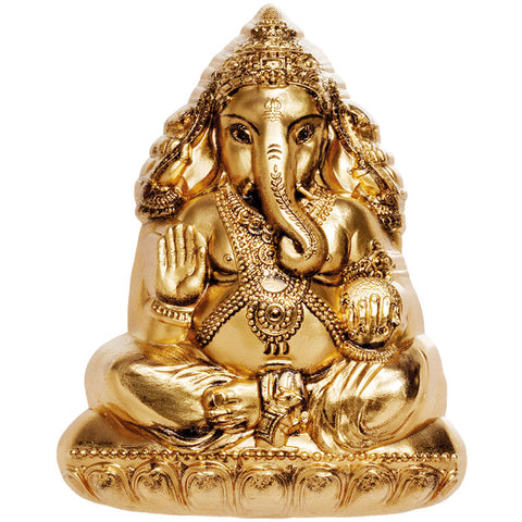 2019 Cook Islands 3 Ounce Lord Ganesha Sculptured Gold Plated Silk Finish Silver Coin