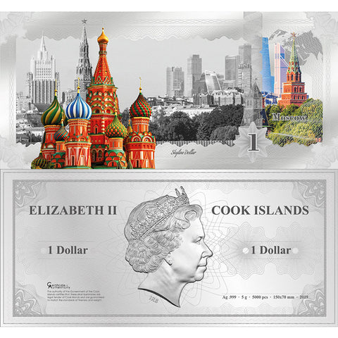 2019 Skyline Dollars Moscow Silver Bank Note