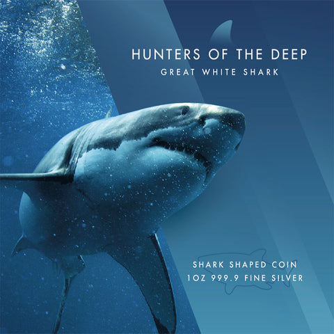Pampe Suisse Great White Shark Hunters of the Deep Coin